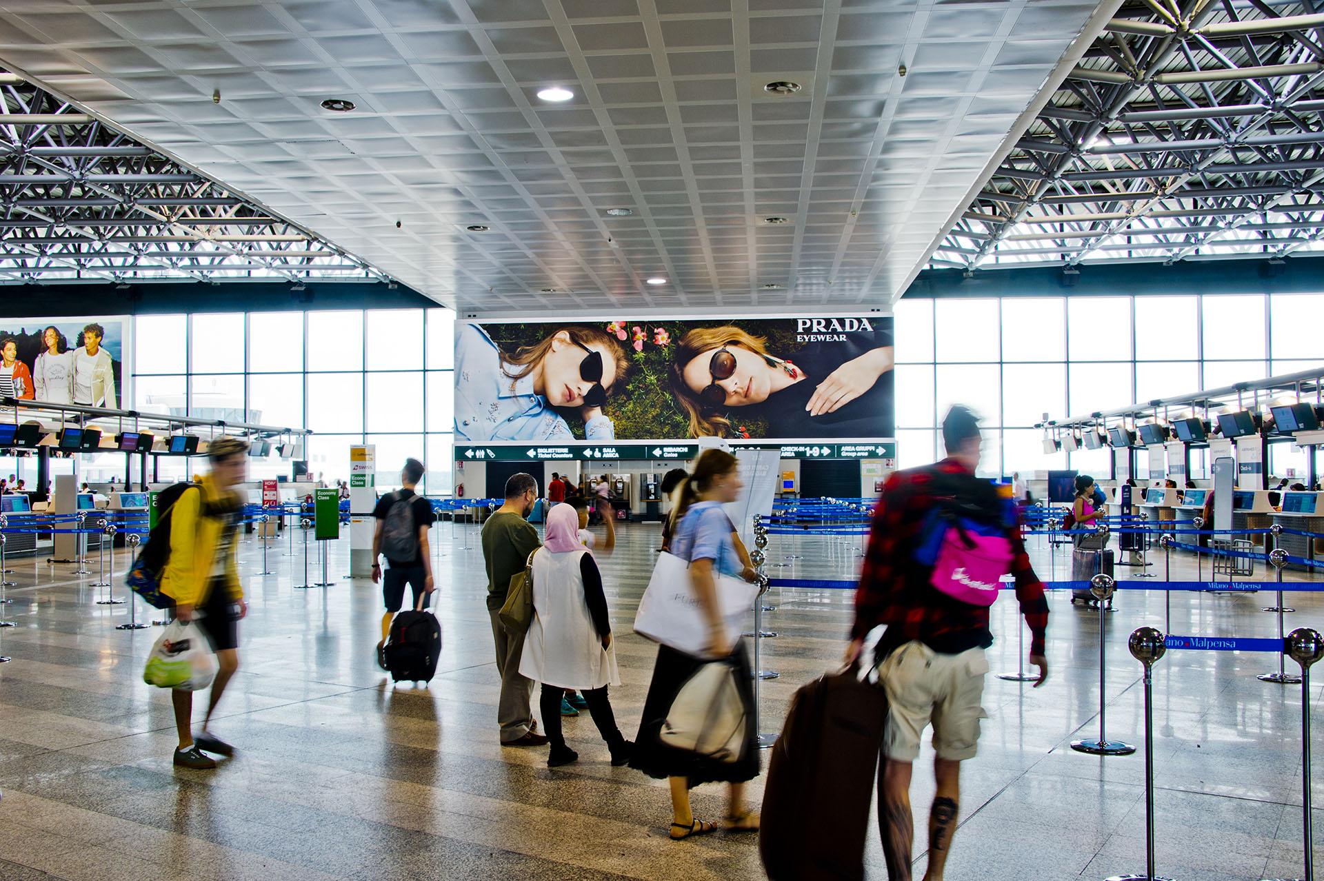 spazio espositivo di alta qualità presso l'aeroporto di Milano Malpensa