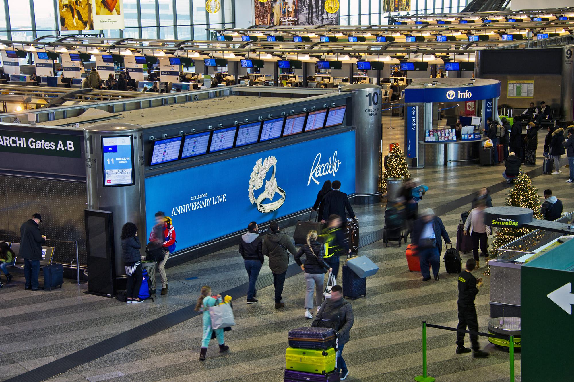 impianto prestigioso per advertising all'aeroporto di Milano Malpensa