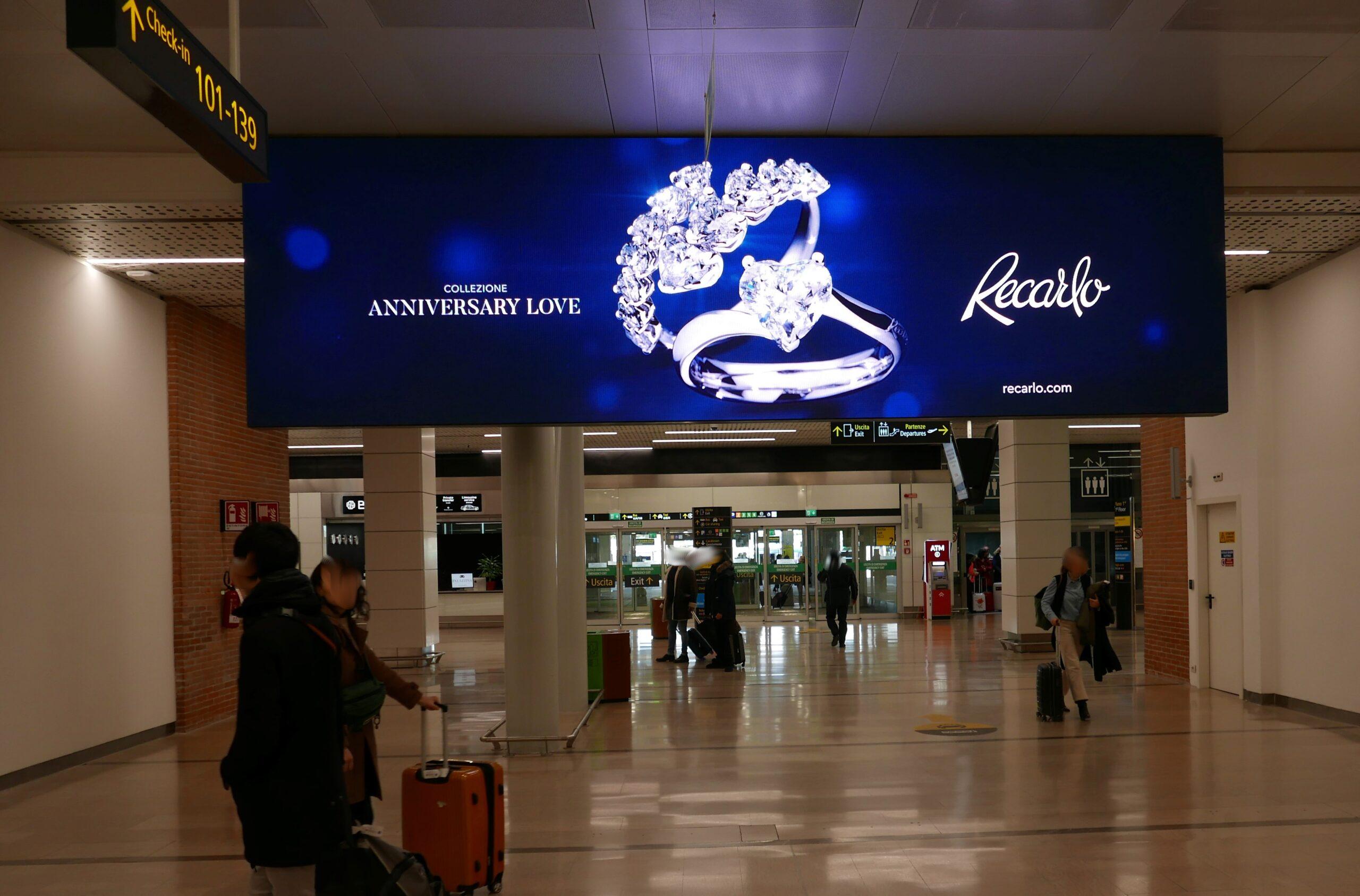 impianto digital in aeroporto a Venezia